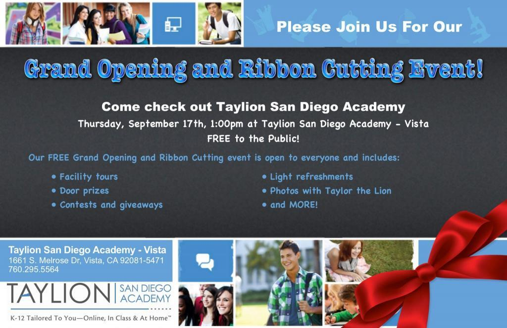 Taylion Grand Opening Invite 1