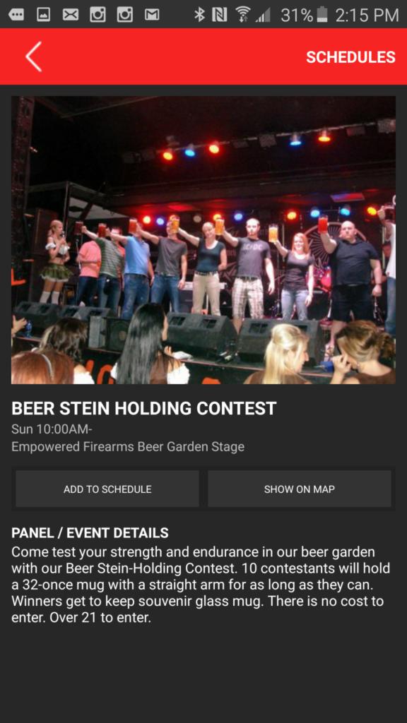 Vista Strawberry Festival Beer Stein Holding