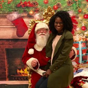 Happy Holidays photo with Santa